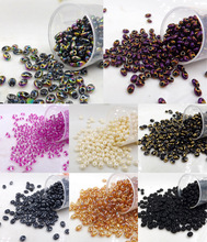 CHOOSE COLOR 100pcs Luster Czech Glass Seed Beads Two Hole  beads 5x2.5mm