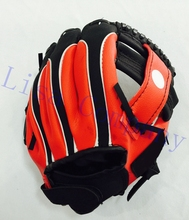 2017 hot sale 9.5 inch red colour children left hand high quality baseball glove non-slip super soft wear-resisting harmless(China)