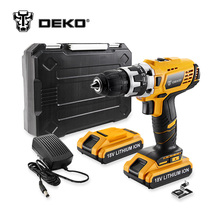 DEKO GCD18DU2 18V DC New Design Mobile Power Supply Lithium-Ion Battery Cordless Drill/Driver Power Drill Tools Electric Drill