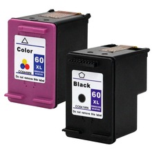 2Pk For HP 60 Cartridges For HP Deskjet F2480 F2420 F4480 F4580 F4583 D2660 D2530 F4280 C4683 Printer For HP60 ink cartridge