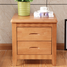 Bedside table solid wood contracted and contemporary advocate lie the bedroom cabinet type while ark mini walnut nightstand(China)