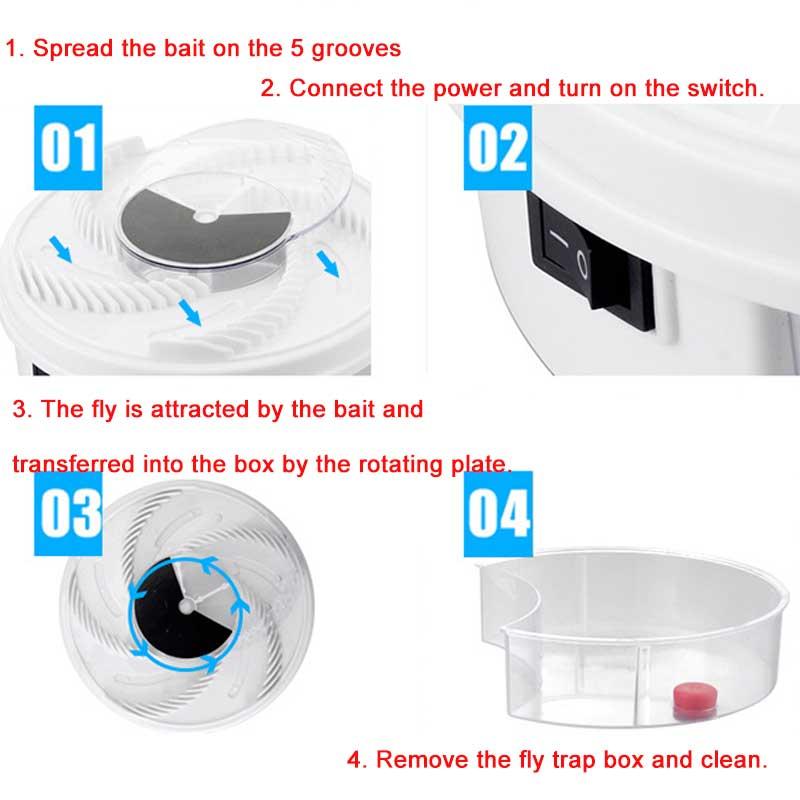 Piège à mouches électrique automatique rechargeable
