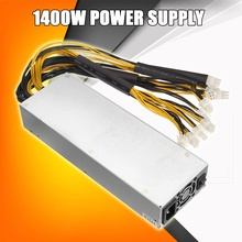 1400W Metal 8 Card Miner Power Supply For S7 S9 Series Mining Machine Dedicated New ATX Power For Computer PC(China)