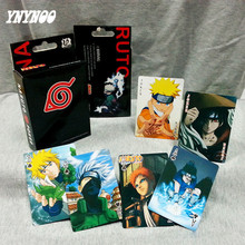 YNYNOO 54 pcs/pack Anime Naruto Sikhuo Kakashi Poker Cards Collection Poker Game Cards Toy with retail box Kids Best gifts