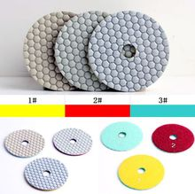 "4""(100mm) Grit 2# dry use of flexible diamond dry 3 step polishing pad,for stone and marble granite(China)"