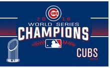 2016 Chicago Cubs World Series Champions flag-3x5 MLB Banner-Free shipping  Flags 90cmX150cm