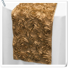 Hot Sale !!! Top Quality  Embrodiery  20pcs Gold Table Runners 30x275cm For Wedding &Banquet Decoration FREE SHIPPING
