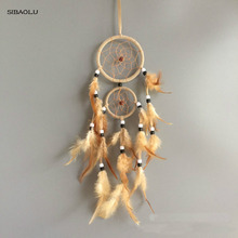 vintage home decoration retro feather dream catcher circular feathers wall hanging dreamcatchers decor for car(China)