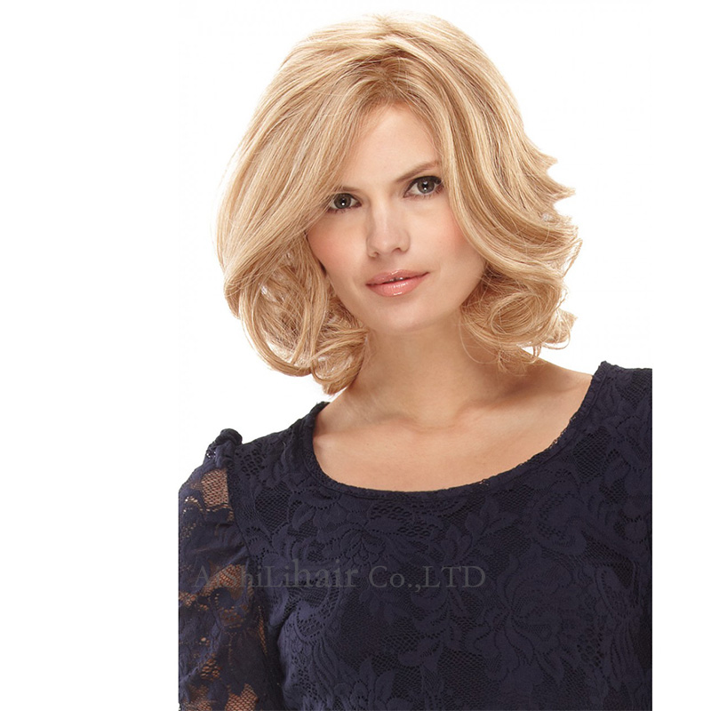 medium long Blonde Wigs Natural Wave  Peruque Synthetic Women hair wig Peurca Cosplay Sassy layered wig for black women<br><br>Aliexpress