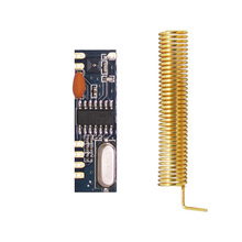 5pcs SRX882 Receiver RX Module+antenna 433mhz - 100m 433MHz 315MHz ASK Wireless RF Receiver Module