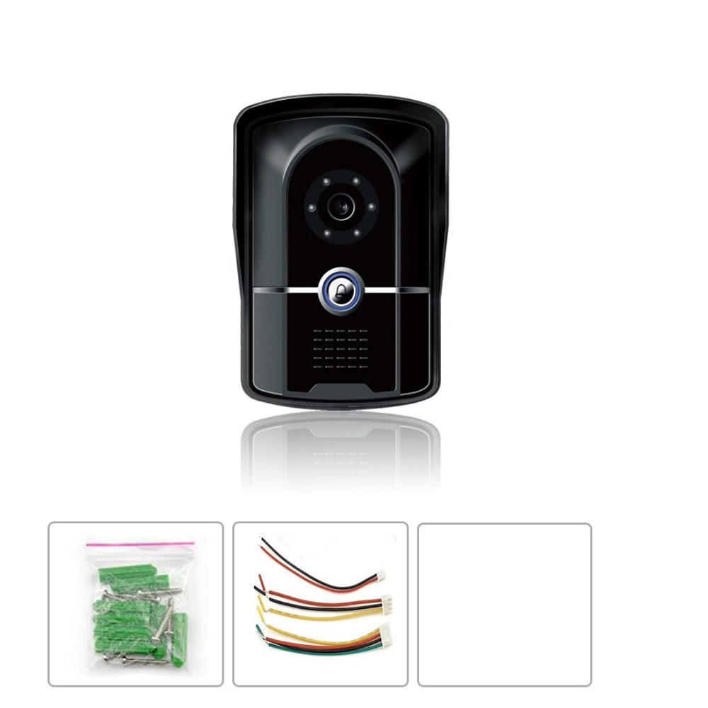 IP55 level waterproof entrance machine wired video door phone With the function of infrared night vision<br>