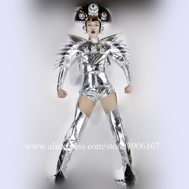 Nightclub DS Silver Star Costumes Men01