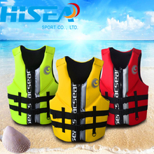 Hisea Adult Polyester Neoprene  Life Vest Safety life Jackets For Fishing Swimming  Surfing Boating