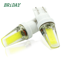 2017 newest 2pcs T10 glass COB Bulbs White 168 501 W5W LED Lamp T10 Wedge Interior Lights 12V - 24V 6000K Red yellow blue(China)
