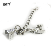Stenya Necklace Bracelet Flat Leather Cord Drimp Ends Extended Extension Chains Tails Caps Bobster Clasp Swivel Hooks Kolye