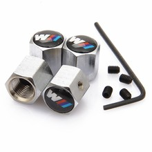 4Pcs/Pack Theftproof Car Logo Wheel Tire Valves Tyre Stem Air Caps Airtight Cover for BMW M Series Car-Styling