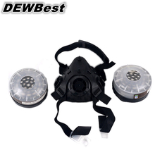 Free shipping actived carbon filter gas mask military gas mask rubber frame military respirator gas mask supplier in China(China)