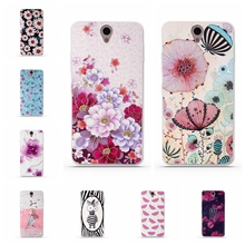 Luxury Cartoon Cases for funda Lenovo Vibe S1 Cover Case 3D Flower Shell Silicon Soft TPU for Lenovo Vibe S1 Phone Back Cover