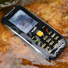 Original KUH T8 Waterproof Dust Proof Shockproof IP67 Rugged Phone Vibration Mobile Phone Power Bank Cellphone(China)