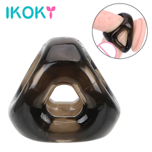 Buy IKOKY Elastic Cock Ring Penis Ring Scrotal Binding Sex Toys Men Male Adult Products Delay Ejaculation Silicone