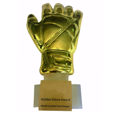 "12"" Height Soccer Football Resin GOALKEEPER Golden Glove Award World Cup Trophy Golden Goalkeeper Award Fans Souvenirs World Cup(China)"