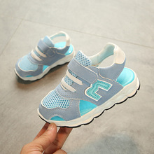 2018 European fashion summer children sandals Hook&Loop canvas boys girls shoes Ankle high quality M kids toddlers sneakers