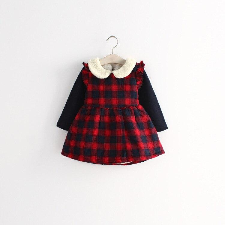 Anlencool 2017 Free shipping  new baby winter dress Cotton Flax Korean children dresses wholesale girls dress in winter<br><br>Aliexpress