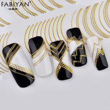 Nail Art Stickers Decoration Metal Line Striping Tape Transfer Foils Laser Self-Adhesive Design DIY 3D Tips Decal Manicure Tools(China)