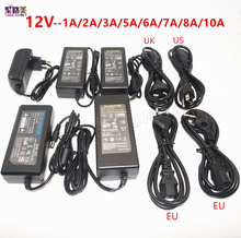 DC 12V 1A 2A 3A 5A 6A 7A 8A 10A LED power Adapter For ws2811 / 5050 / 3528 / 6803 LED Strip AC100-240V led Lighting transformers(China)