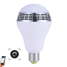 110-240V E27 4W Smart RGB LED Bulb Light Wireless Bluetooth Speaker Lamp Audio for Android iPhone iPad Xiaomi Meizu caixa de som