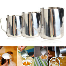 Coffee Decor Tools 350ml/600ml/1000ml Stainless Steel Milk Cream Frothing Cup Mug Pitcher Craft Latte Cappucino Jug Drinkware