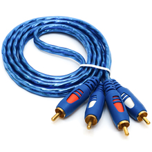 Jinchi Two Of The Two RCA AV Cable Audio Cable Anti Noise Audio Line Two To Two Double Color Four Head Lotus Line AC02 RCA Cable