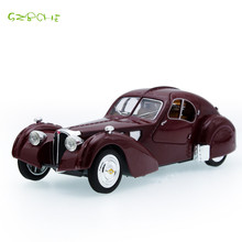 Bugatti Nostalgic Classic Diecast Vintage Car Model Vehicle for Children Toy Delicately Crafted Collection Birthday Gift