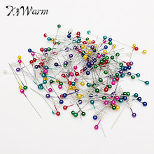 200pcs Mix Color Round Head Clothing Pin Dressmaking Wedding Pearl Corsage Florists Decorating Sewing Pins DIY Craft Accessory