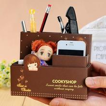 1 PCS Kawaii Paper Board Desk Accessories & Organizer Boxes DIY Paper Makeup Cosmetic Stationery Boxes Office Supplies
