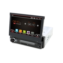 Quad-Core CPU Pure Android 6.0 Single din Universal car dvd player Android 6.0 car audio stereo HD Capacitive GPS car radio