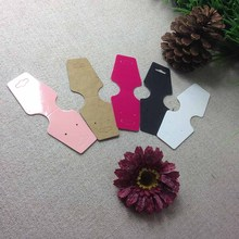 Wholesale 500pcs Fashion Earring card Hot Pink Necklace Card Hang Tag Custom Logo cost extra(China)