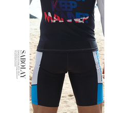 2016 New Men`s Print Rash Guard Suit UV Protection Long Sleeves Windsurf Surfing Swimsuit Swimwear Swimming Shirt High Quality