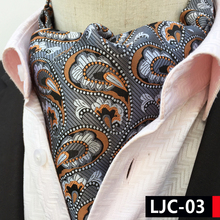 2017 Designer's Men Decorated Ascots Unique Paisley Collar Neckerchief for Banquet Wedding