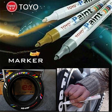 9 colors White Waterproof Rubber Permanent Paint Marker Pen Car Tyre Tread Environmental Tire Painting free shipping(China)