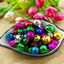300pcs/lot Handmade Multicolor Iron Loose Beads Small Jingle Bells DIY Crafts Christmas Decoration