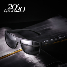 20/20 New Night Vision Polarized Sunglasses Men Fashion Night Driving Enhanced Light anti-glare Male Square Glasses PL318(China)