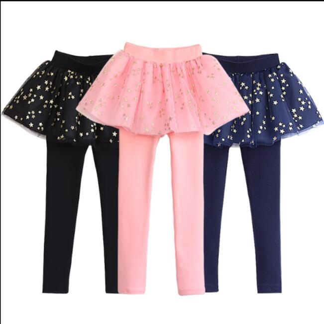 Spring Autumn 18 New Girls Leggings Girls Skirt-Pants Kid Pants Fashion Cake Skirt Girl kids Leggings Trousers Leggings Pants 6