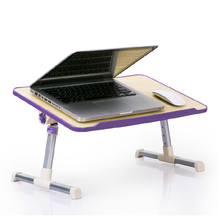 Foldable Portable Laptop Table Notebook Stand Laptop Bed Desk with Cooling Fan Adjustable Height Angle 30 Degree Adjust 30x52cm