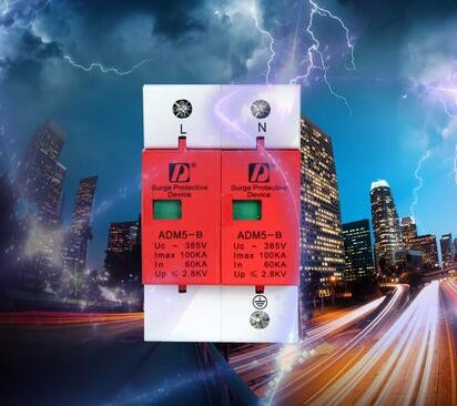 2P 60KA~100KA 385VAC SPD Household Surge Protector Protective Low-voltage Arrester Device Surge Protective Device<br><br>Aliexpress