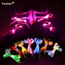 Tanbaby LED Waterproof Shoelaces Flash Light Up Glow Stick Strap Shoelaces Battery for Party Hip-hop Dancing Skating Running