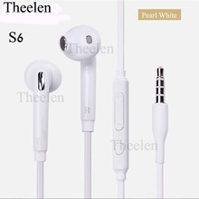 Good qulity earphone for S6 S7 Earphone J5 Headphones Headset wired With Mic and Volume Control 3.5mm(China)