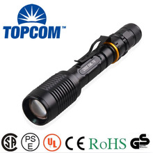 New Powerful Zoom 5000 lumen flashlight rechargeable 18650 flashlight Cree XM-L T6 Big LED Tactical Police Flashlight Torch