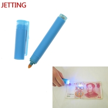 Jetting New 2in1 Useful UV Light Banknotes Detector Counterfeit Fake Forged Money Bank Note Checker Detector Tester Marker Pen