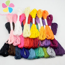 Mixed 24 colors Cross Threads / Cross Stitch Embroidery Thread Line polyester Cotton 24pcs/lot 20050019(HS24)(China)